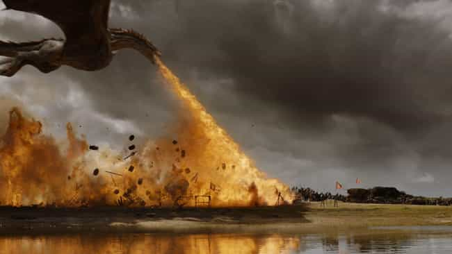 Dragons Breathe Fire By Combin... is listed (or ranked) 3 on the list The Secret History Of Dragons In 'Game Of Thrones' (And How To Slay Them)