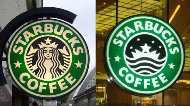 Starbucks, Minus The Mermaid is listed (or ranked) 1 on the list These Pictures Reveal How Everyday Products Are Censored In The Middle East