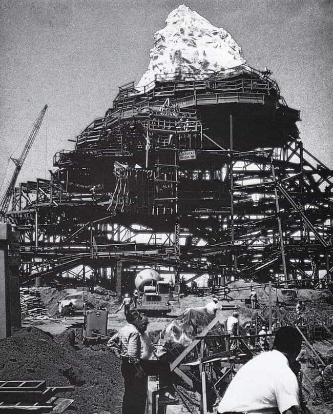 The Matterhorn is listed (or ranked) 4 on the list Amazing Photos Of Your Favorite Disney Rides Under Construction