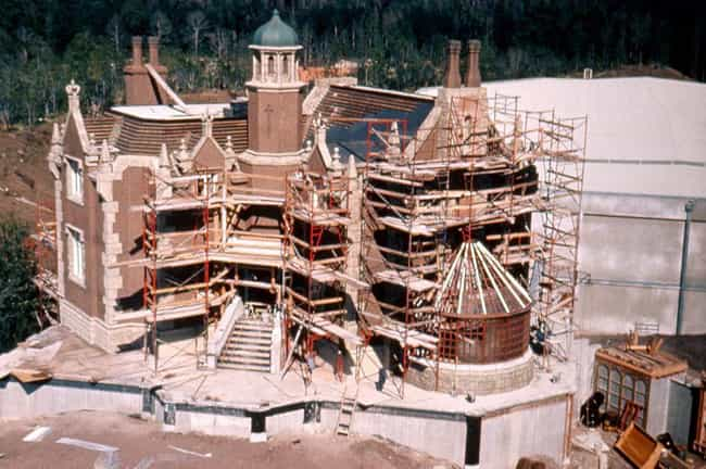 The Haunted Mansion is listed (or ranked) 3 on the list Amazing Photos Of Your Favorite Disney Rides Under Construction