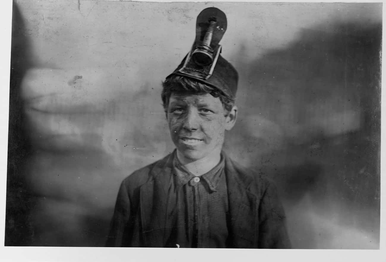 At 14, Frank Had Been Working  is listed (or ranked) 1 on the list Tragic Photos Of Child Miners That Will Make You Grateful For The Government