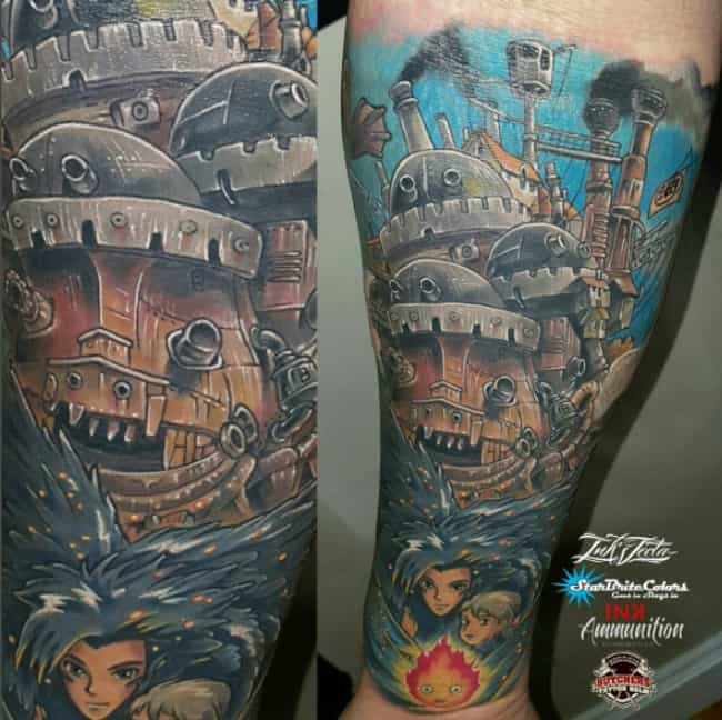 Howl's Moving Castle is listed (or ranked) 4 on the list 24 Epic Anime Sleeves That Are Seriously Works of Art