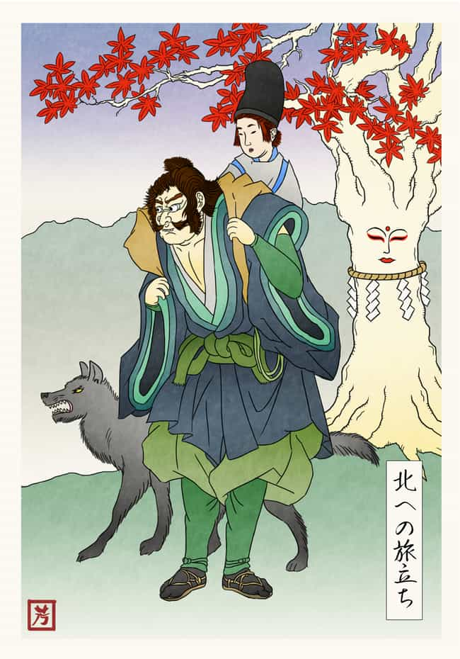 Bran Stark And Hodor Journey N... is listed (or ranked) 4 on the list This Artist Reenvisioned Game Of Thrones In Feudal Japan