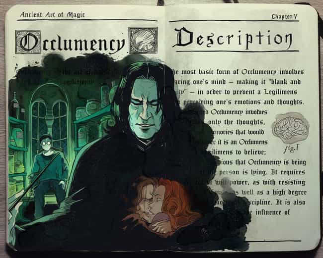 Occlumency is listed (or ranked) 2 on the list This Artist Creates Awesome Harry Potter Watercolor Fan Art