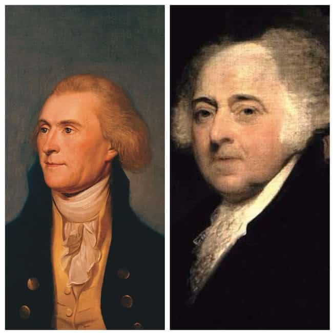 Thomas Jefferson And John Adam... is listed (or ranked) 4 on the list 13 Presidents Who Lived Wild Lives Before Becoming President