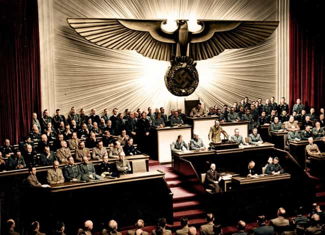 Hitler Believed Conflict... is listed (or ranked) 1 on the list The Rare Color Photo That Captured The Moment Hitler Declared War On The U.S.