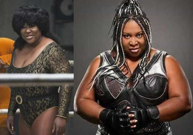 Kia Stevens Is Amazing Kong is listed (or ranked) 2 on the list All The Real-Life Wrestling References In GLOW