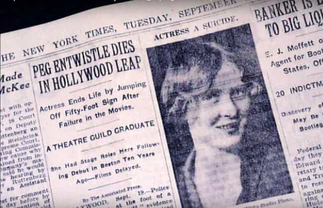 Her Footsteps Didn't Make ... is listed (or ranked) 2 on the list The Story Of Peg Entwistle, The Most Infamous Hollywood Haunting Of All Time