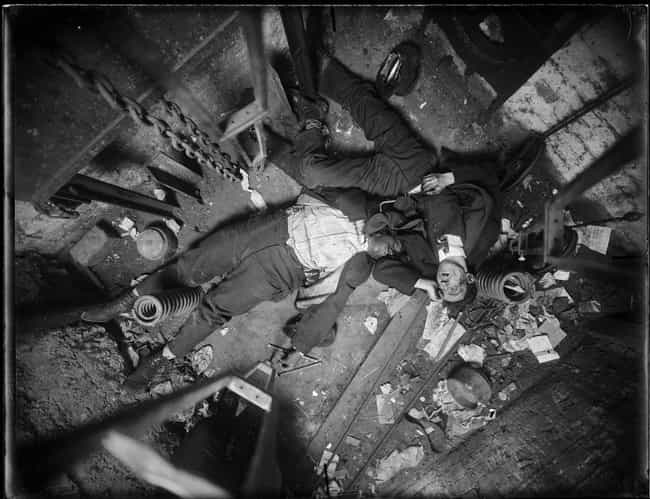 Two Burglars Fell Five S... is listed (or ranked) 4 on the list 15 Visceral Crime Scene Photos From 1910s New York