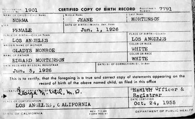 Her Records Were Listed Under ... is listed (or ranked) 2 on the list Marilyn Monroe Plastic Surgery Secrets Revealed