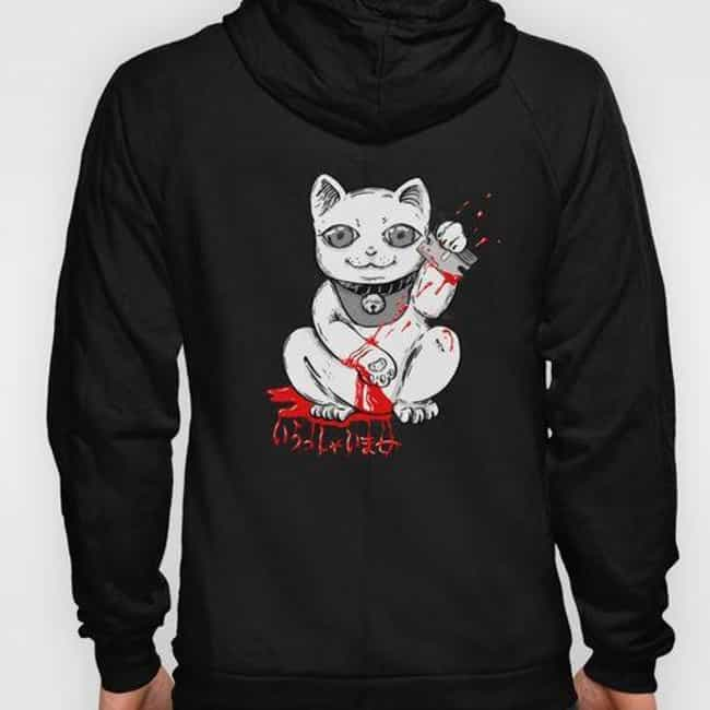 Bloody Lucky Cat Hoody ... is listed (or ranked) 2 on the list 16 Products You'll Love If You Have A Sick Sense Of Humor