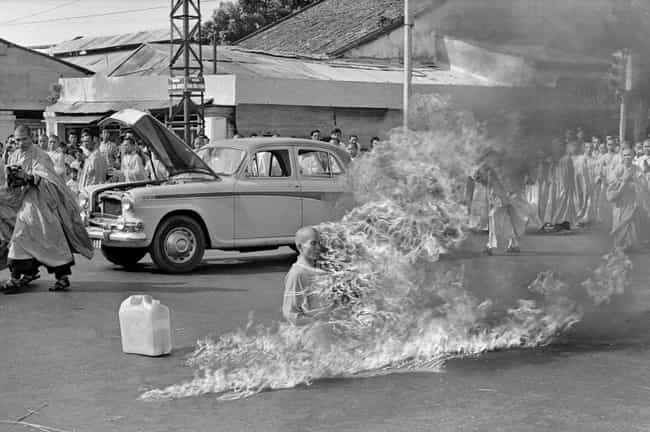 A Journalist Captured Duc'... is listed (or ranked) 2 on the list The Reason This Buddhist Monk Self-Immolated Is Uncomfortably Familiar