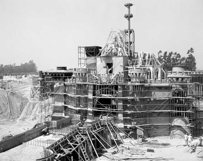 Sleeping Beauty's Castle is listed (or ranked) 1 on the list Amazing Photos Of Your Favorite Disney Rides Under Construction
