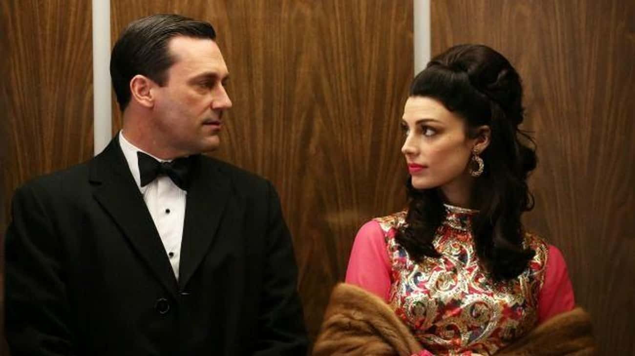 Megan And Don, 'Mad Men' is listed (or ranked) 3 on the list 14 Insufferable Relationships That Almost Ruined Great TV Shows