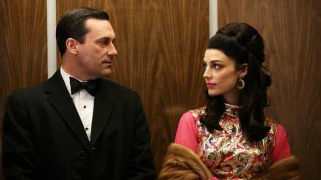 Megan And Don, 'Mad Men'... is listed (or ranked) 4 on the list 14 Insufferable Relationships That Almost Ruined Great TV Shows
