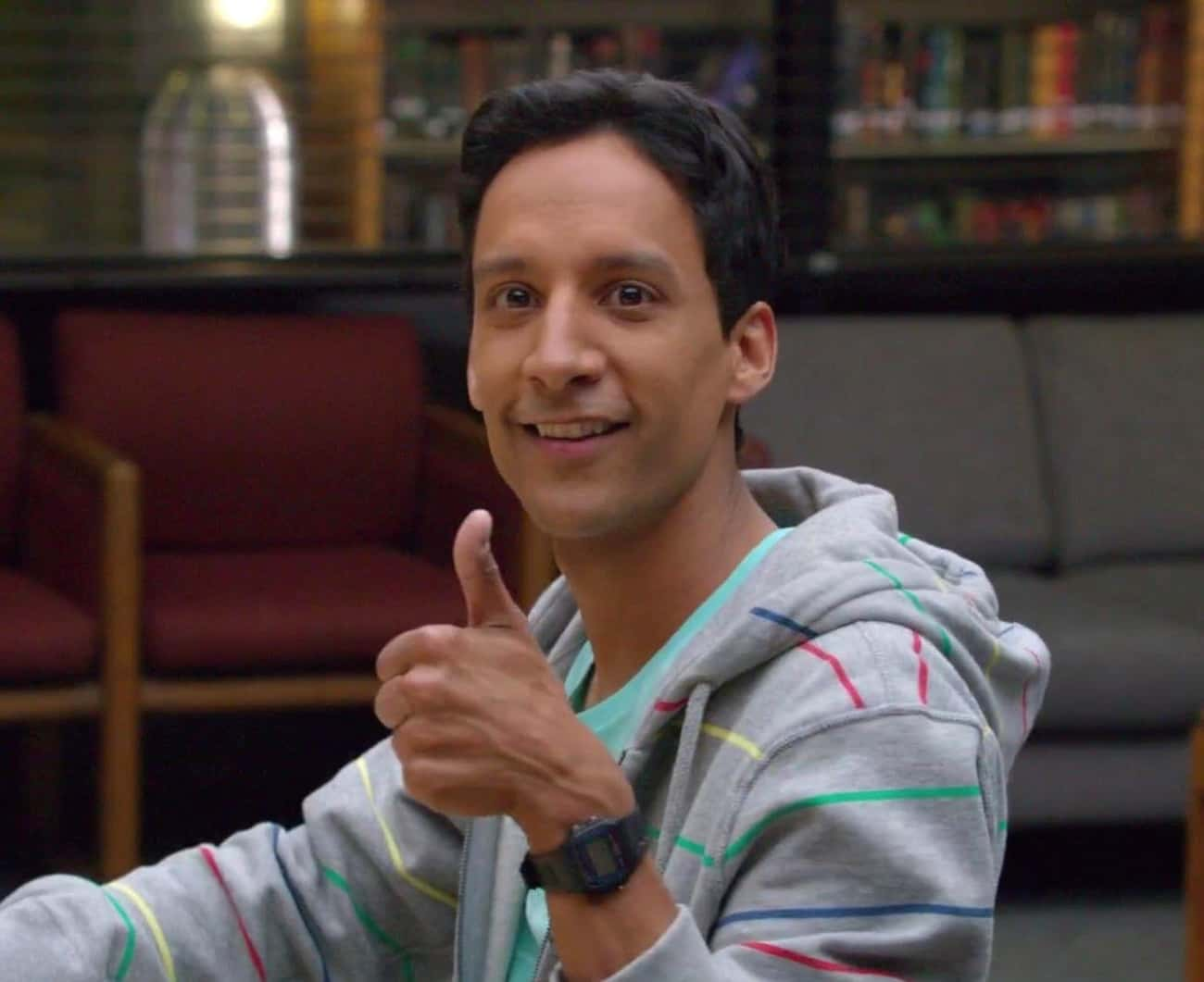 Abed Knows Someone's Filming Him
