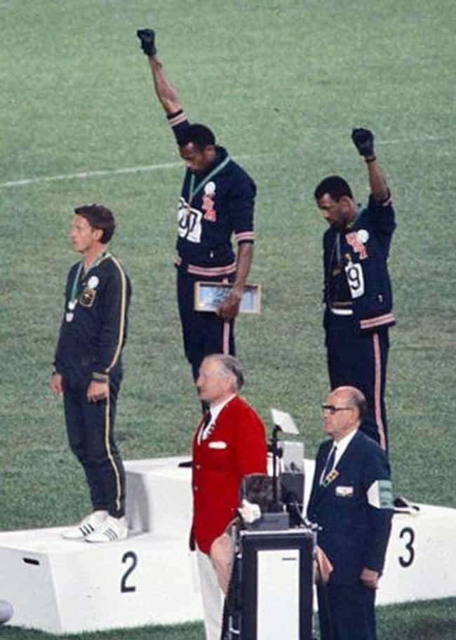 Smith And Carlos Became ... is listed (or ranked) 1 on the list The White Guy In The Black Power Olympics Photo Paid A Huge Price For His Help