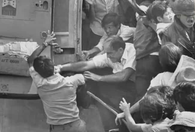 Violence Erupted Soon After Th... is listed (or ranked) 1 on the list How One Photo Captured The Chaos Of The Vietnamese US Embassy Evacuation