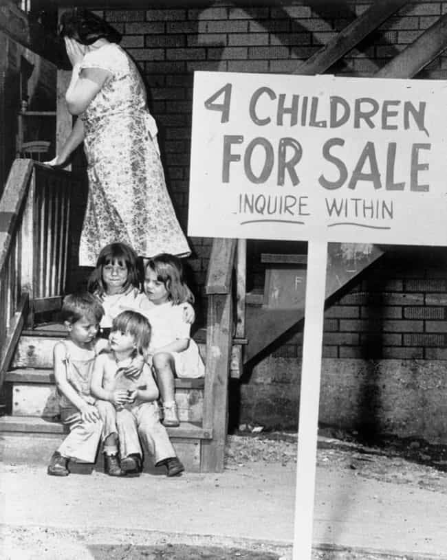 Their Mother Was Pregnan... is listed (or ranked) 1 on the list The Tragic Story Behind The Photo Of Four Children Who Had To Be Sold To Escape Poverty In The 1940s