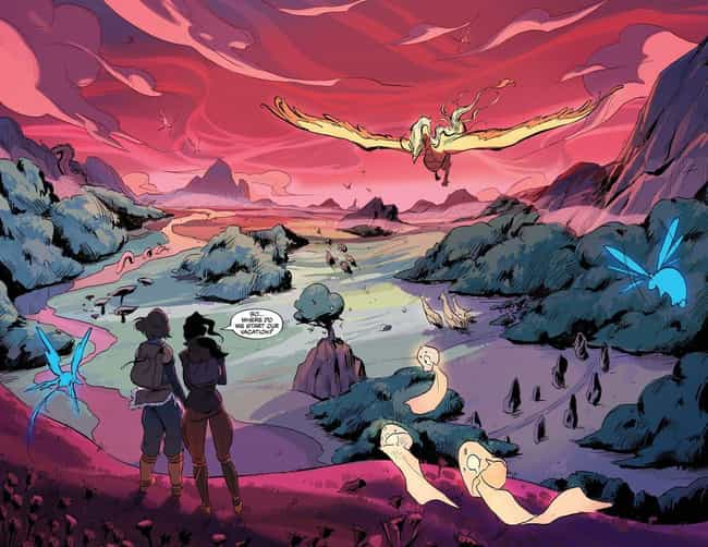 Korra And Asami Spend Their Ho... is listed (or ranked) 1 on the list The Legend Of Korra Fully Embraces Adventure And Queer Themes In Turf Wars