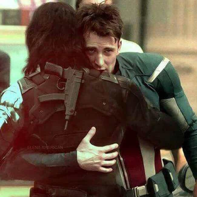 Even Winter Soldiers Need Hugs is listed (or ranked) 3 on the list Behind-The -Scenes Pictures Of Marvel Actors Just Being Best Buds