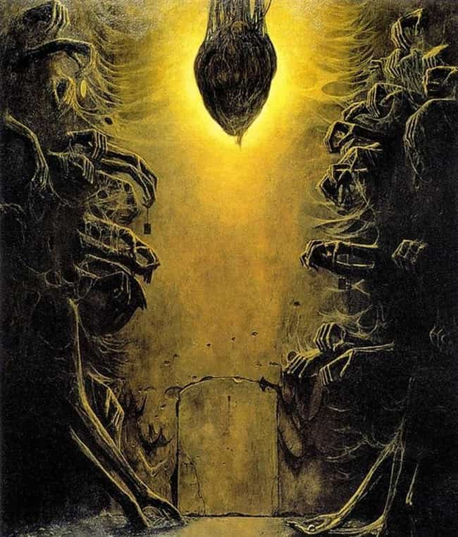Untitled, 1976 is listed (or ranked) 3 on the list The Artwork Of Zdzislaw Beksinski Is Literally The Stuff Of Nightmares