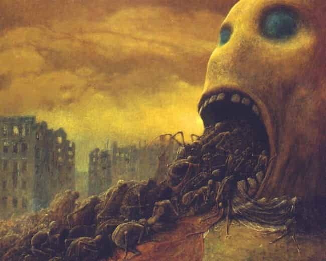 Untitled, 1971 is listed (or ranked) 1 on the list The Artwork Of Zdzislaw Beksinski Is Literally The Stuff Of Nightmares