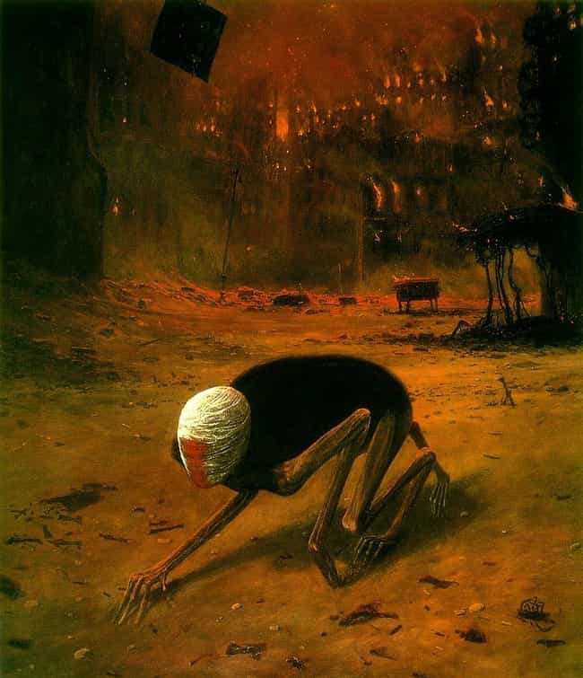 Untitled, 1975 is listed (or ranked) 2 on the list The Artwork Of Zdzislaw Beksinski Is Literally The Stuff Of Nightmares