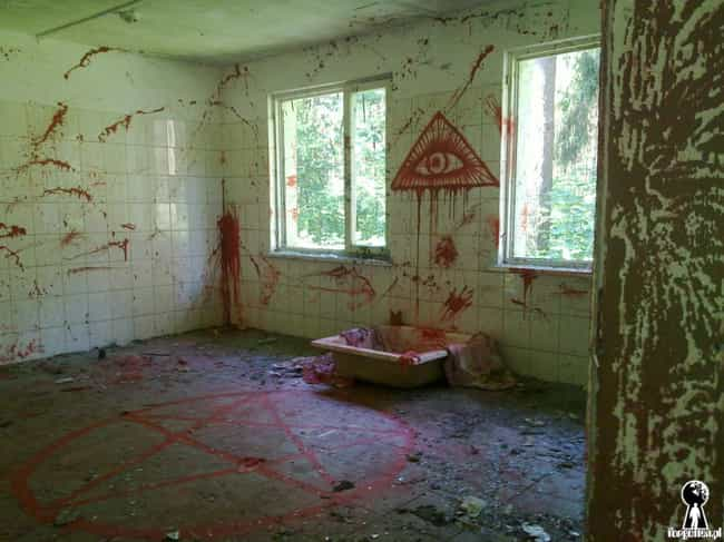 Is That Blood Or Just Way Too ... is listed (or ranked) 3 on the list These Pics From Abandoned Buildings Seem To Show The Aftermath Of Satanic Rituals