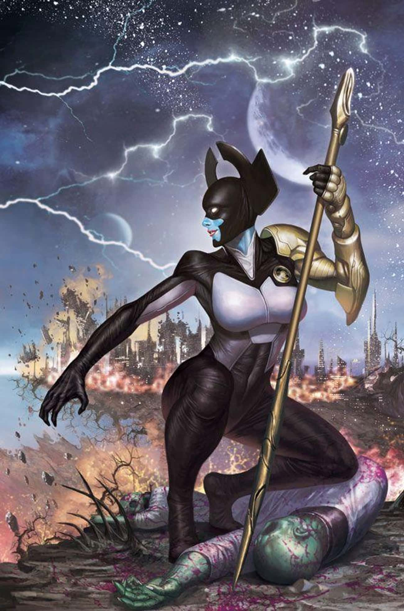 Proxima Midnight is listed (or ranked) 2 on the list The Secret History Of The Black Order, The Most Terrifying Villain Team In Marvel History