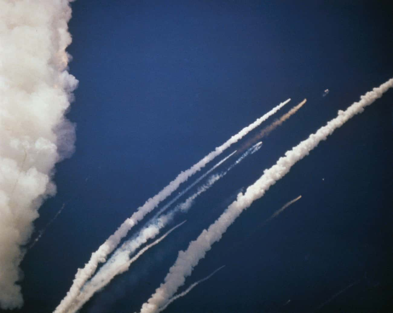 The Failed Rocket Booster Propelled The Cabin Upward Three Miles Before It Lost Momentum And Fell 12 Miles Into The Ocean