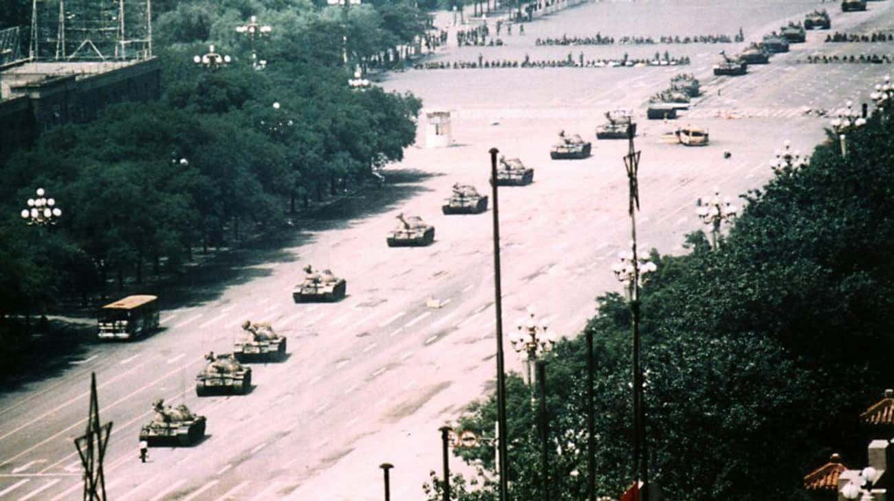 Some Eyewitnesses Claim Tank M is listed (or ranked) 3 on the list The Enduring Mystery Of What Happened To Tank Man, The Most Famous Protester Of All Time
