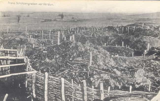 A Moat At Verdun is listed (or ranked) 2 on the list Brutal Pictures From The Battle Of Verdun