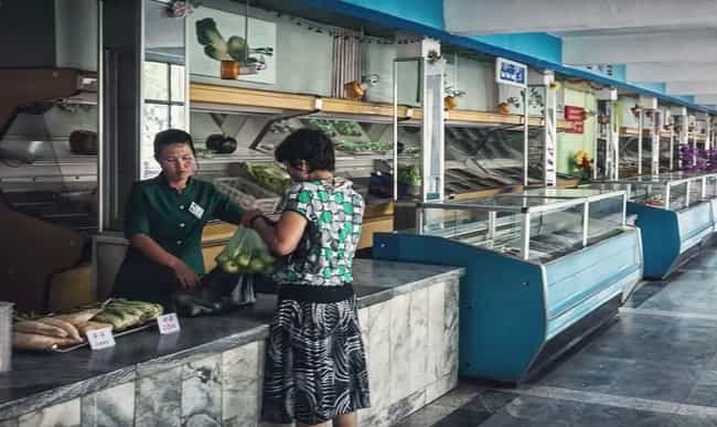 A Supermarket is listed (or ranked) 2 on the list Pictures Of Rural Life In North Korea