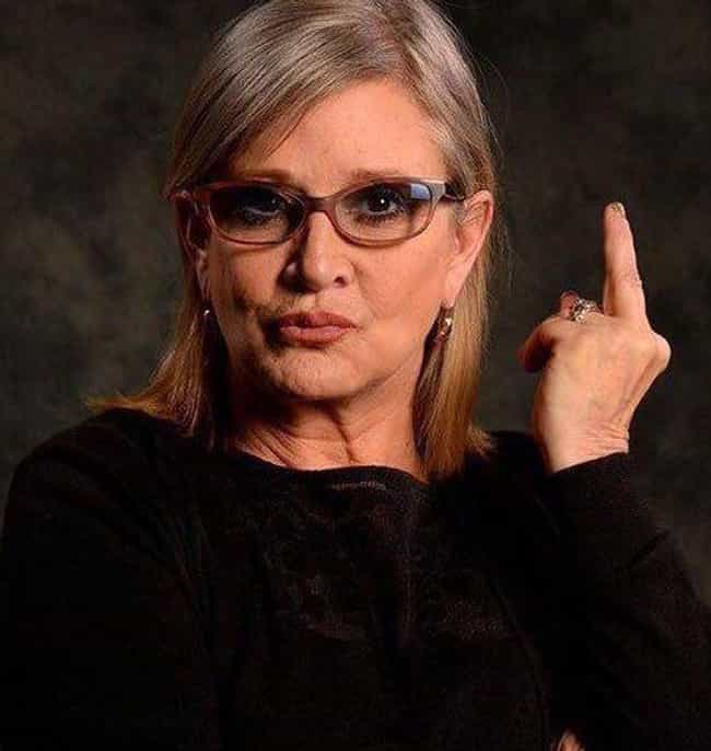 The Master At Work is listed (or ranked) 3 on the list Here's A Bunch Of Pictures Of Carrie Fisher Flipping People Off