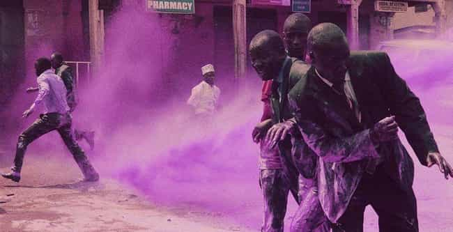 Many Knelt Defiantly As ... is listed (or ranked) 1 on the list South African Cops Blasted Anti-Apartheid Protesters With A Purple Water Cannon To 'Mark Them'