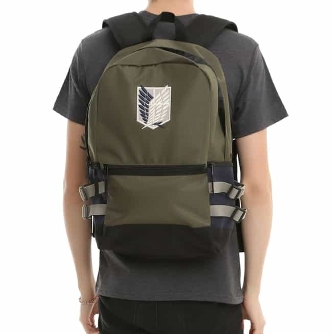 Wings Of Freedom Backpac... is listed (or ranked) 3 on the list This Attack On Titan Swag Will Keep Any Fan Satisfied Until Season 3