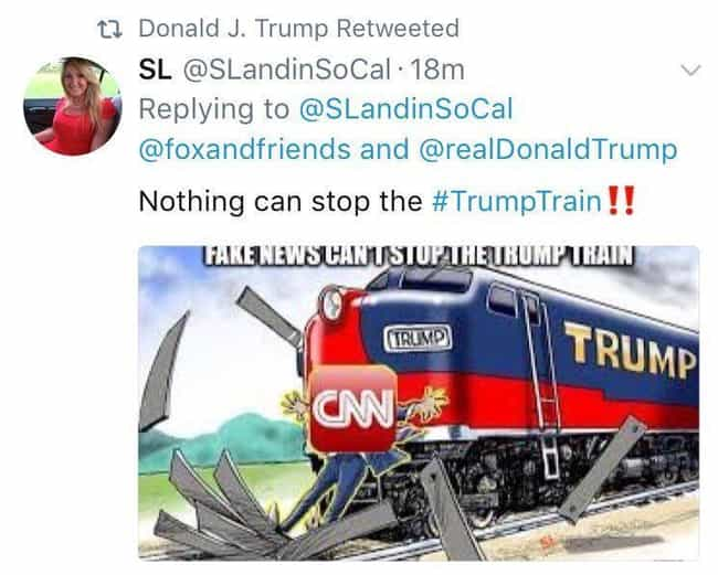 Trump Retweeted A Picture Of A... is listed (or ranked) 2 on the list 2017 Controversial Tweets That Were Quickly Deleted