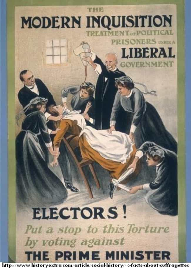 Guards Literally Pinned ... is listed (or ranked) 3 on the list Before World War 1, The British Government Force-Fed Suffragettes On A Hunger Strike