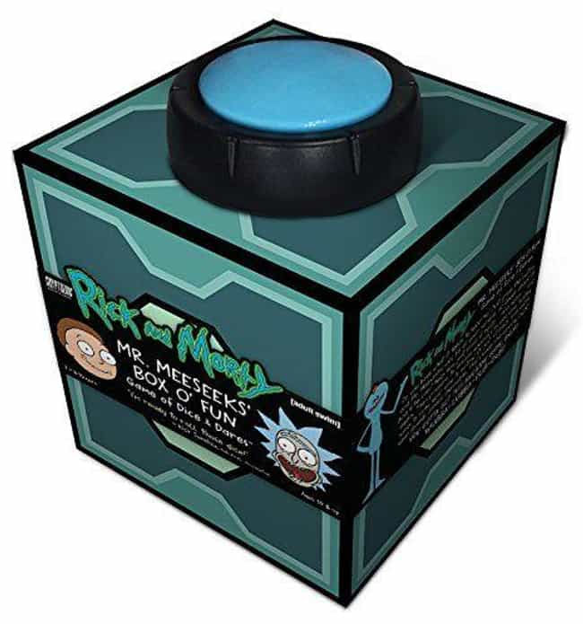 Mr. Meeseeks' Box O' Fun... is listed (or ranked) 3 on the list Schwifty AF Rick And Morty Merchandise You Should Buy To Fill The Empty Void In Your Soul