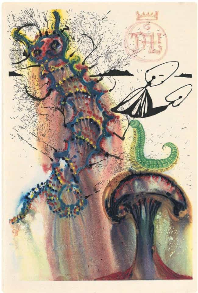 The Caterpillar is listed (or ranked) 4 on the list The Rare Copy of Alice In Wonderland Illustrated By Salvador Dali Is Haunting And Beautiful