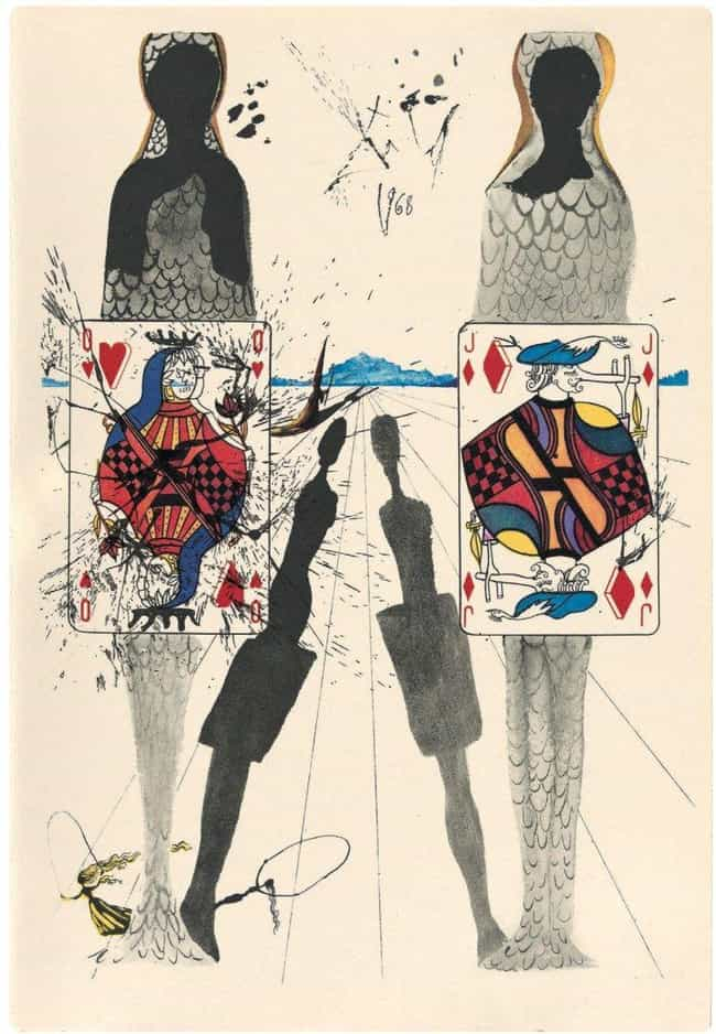 The Queen Playing Croquet is listed (or ranked) 6 on the list The Rare Copy of Alice In Wonderland Illustrated By Salvador Dali Is Haunting And Beautiful