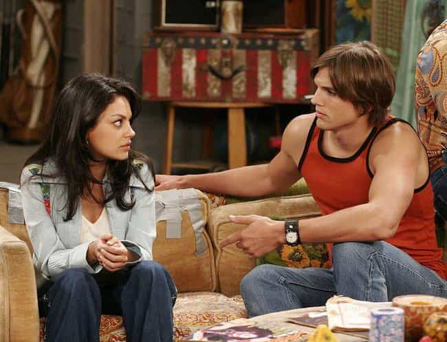 Mila Kunis & Ashton ... is listed (or ranked) 1 on the list 12 TV Couples Who Absolutely Hated Each Other In Real Life
