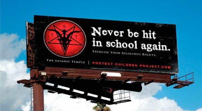 Church Of Satan Billboar... is listed (or ranked) 4 on the list The Weirdest Texas News Of 2017