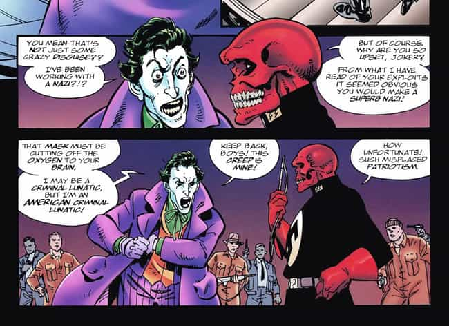 Even The Joker Isn't Down With... is listed (or ranked) 1 on the list Comic Book Characters Who Punched Nazis Right In The Face