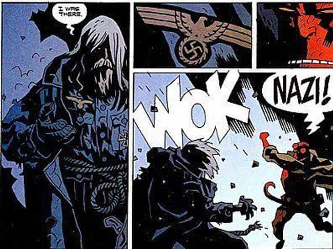 Hellboy Really, Really Hates N... is listed (or ranked) 3 on the list Comic Book Characters Who Punched Nazis Right In The Face