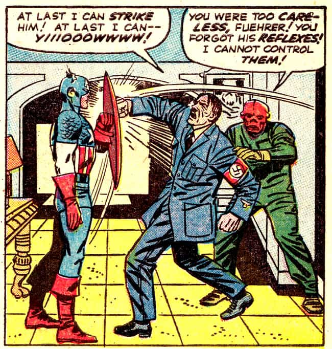 Captain America With A New Twi... is listed (or ranked) 2 on the list Comic Book Characters Who Punched Nazis Right In The Face