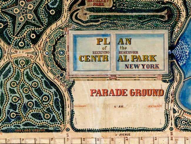 The Parade Ground is listed (or ranked) 3 on the list The Original, Rejected Designs For New York's Central Park Were Absolutely Insane