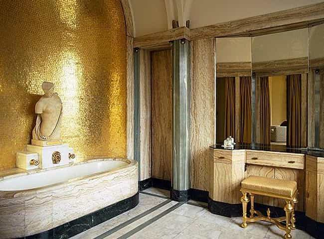 Virginia Courtauld Relaxed In ... is listed (or ranked) 2 on the list 12 Stupendously Lavish And Over The Top Bathrooms From History