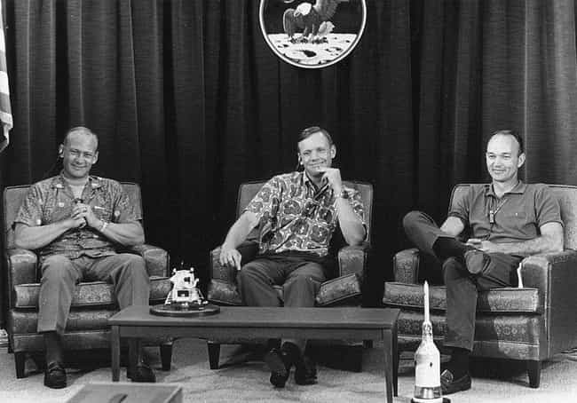 Buzz Aldrin, Neil Armstrong, A... is listed (or ranked) 4 on the list Vintage Pictures Of US Astronauts Hanging Out Being Chill As Hell